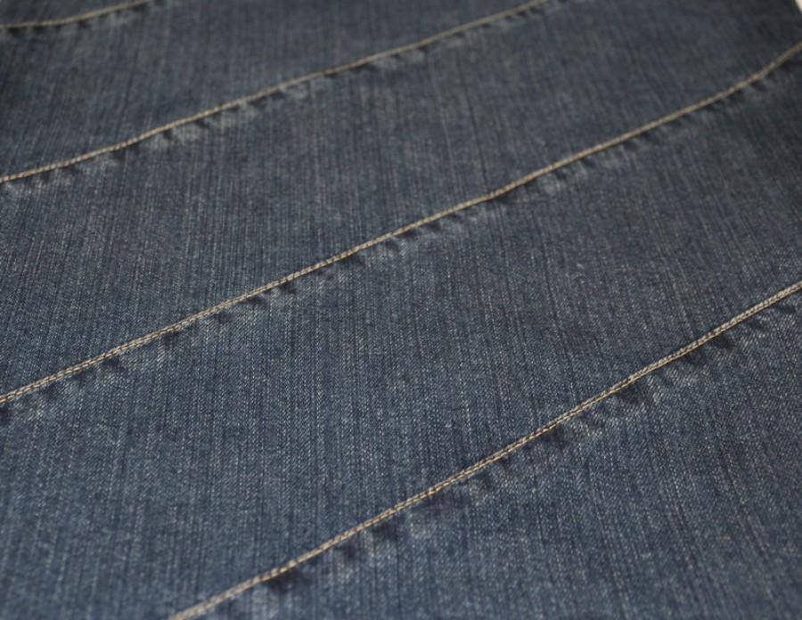 Tamsiai mėlyna džinsinė terbelė pirkiniams