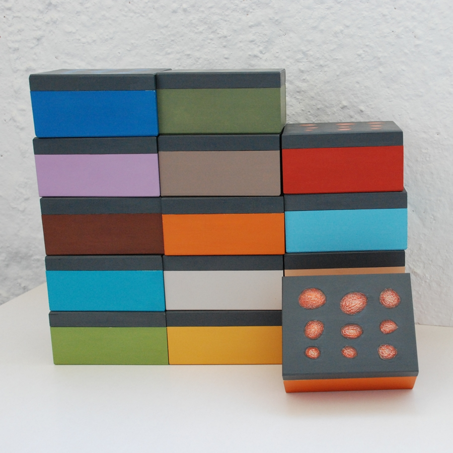 """Maža medinė dėžutė """"Mėlyna"""" (box-04)"""