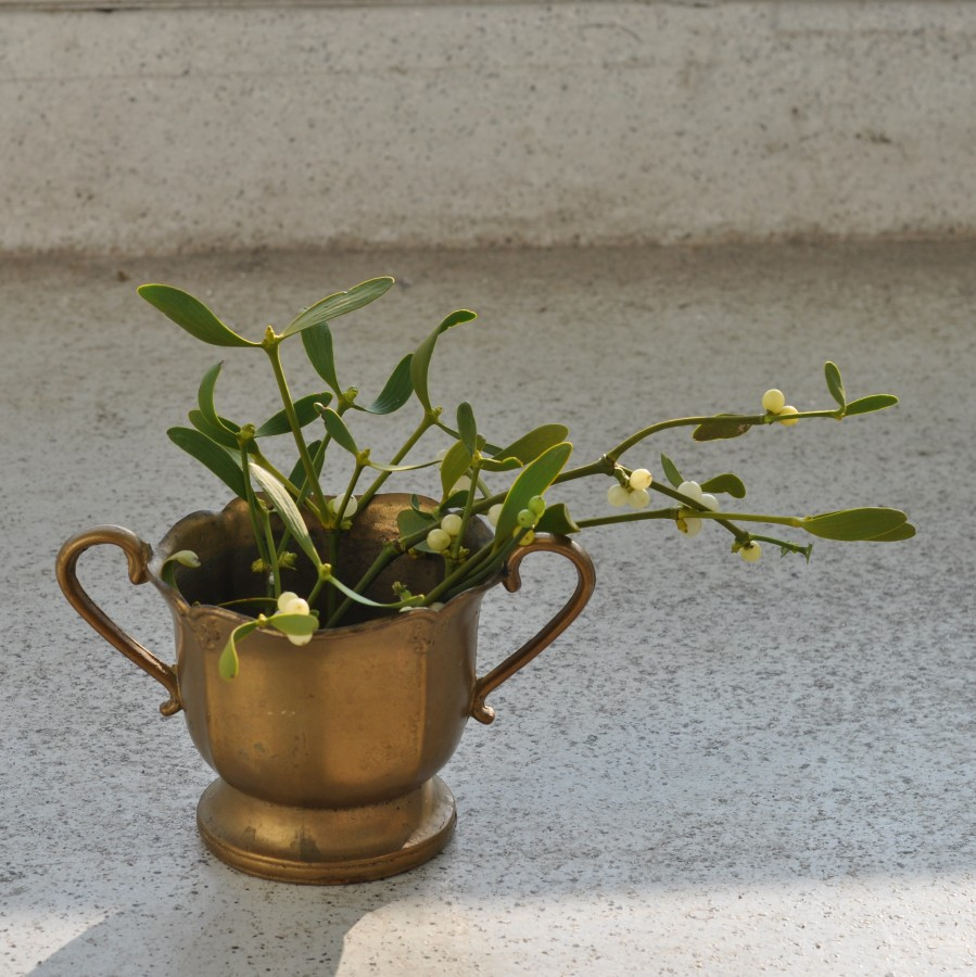 Žalvarinis gėlių  puodas